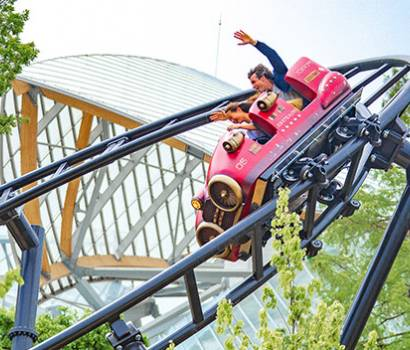 photo de l'attraction speed rocket au jardin d'acclimatation